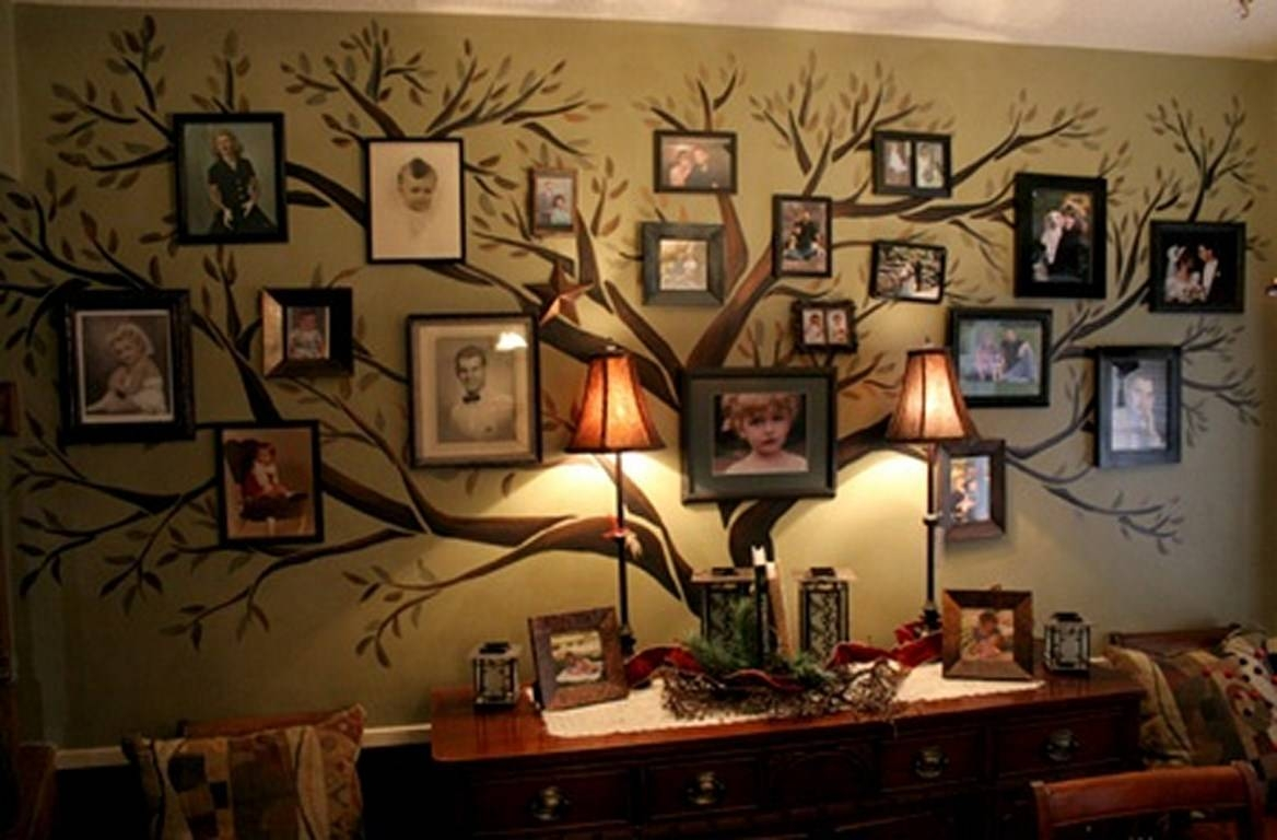 Family Tree Wall Art Ideas | Diy Cozy Home With Recent Family Photo Wall Art (View 14 of 25)