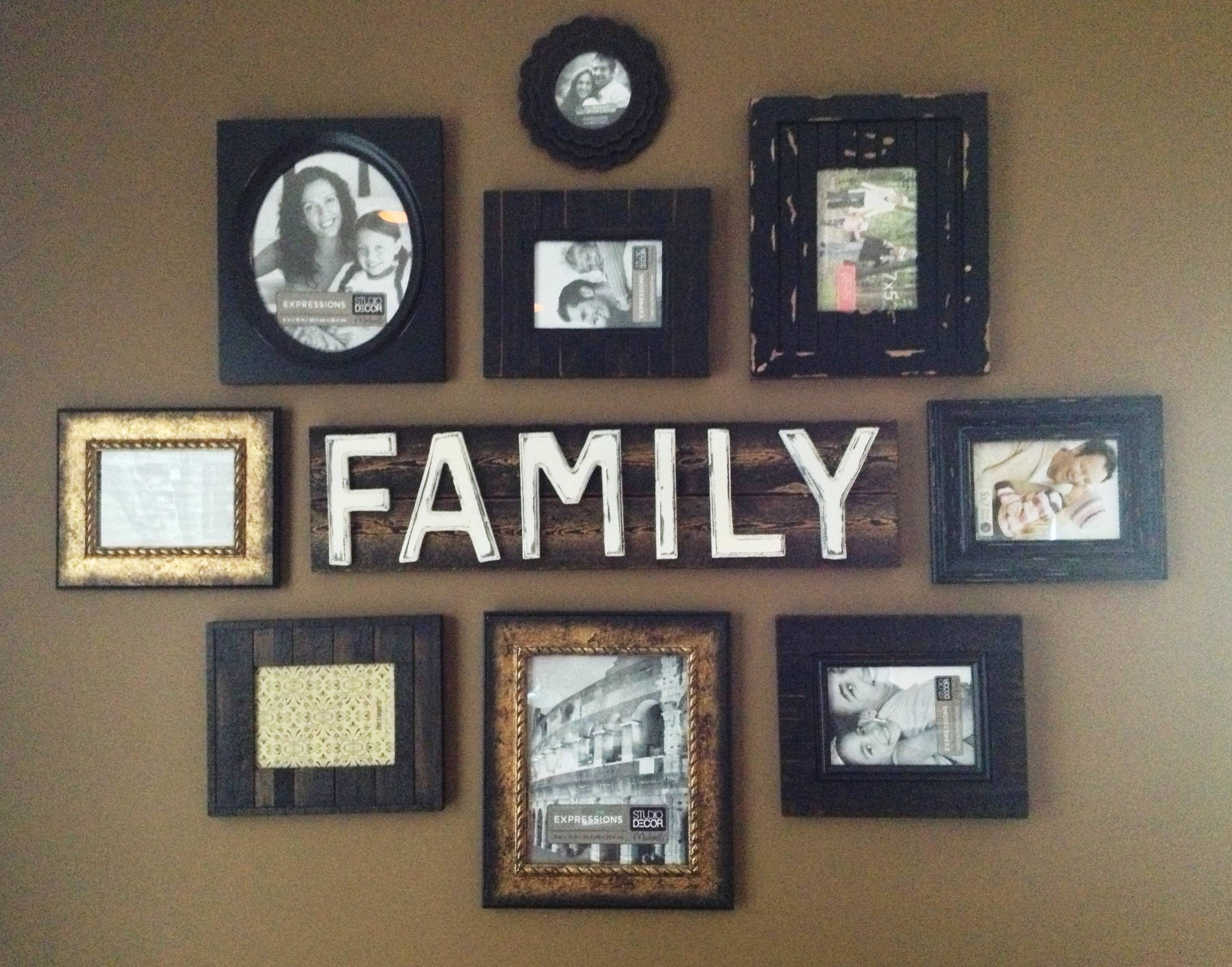 Family Wall Art Picture Frames | Wallartideas With Regard To Best And Newest Family Photo Wall Art (View 17 of 25)