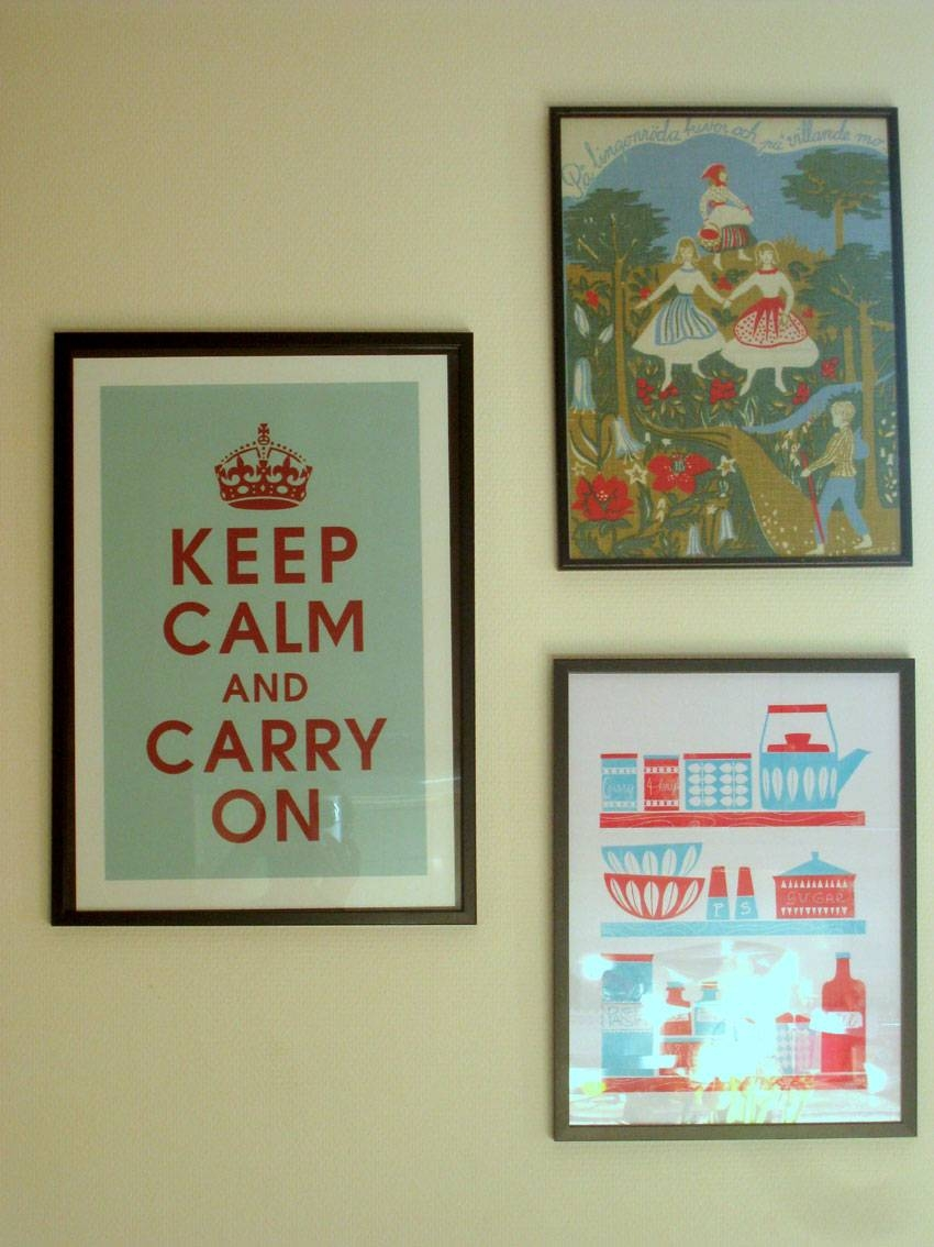Fancy Kitchen Wall Art Design And Decoration Using Keep Calm And With Regard To 2017 Keep Calm And Carry On Wall Art (View 4 of 25)