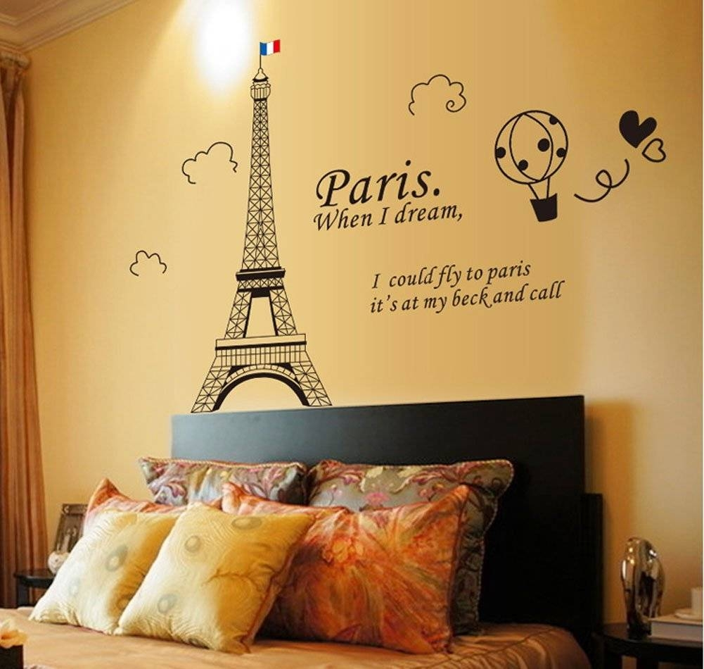 Fange Stickers: Fange Diy Removable Black Eiffel Tower Paris When Within Recent Paris Theme Nursery Wall Art (View 18 of 30)