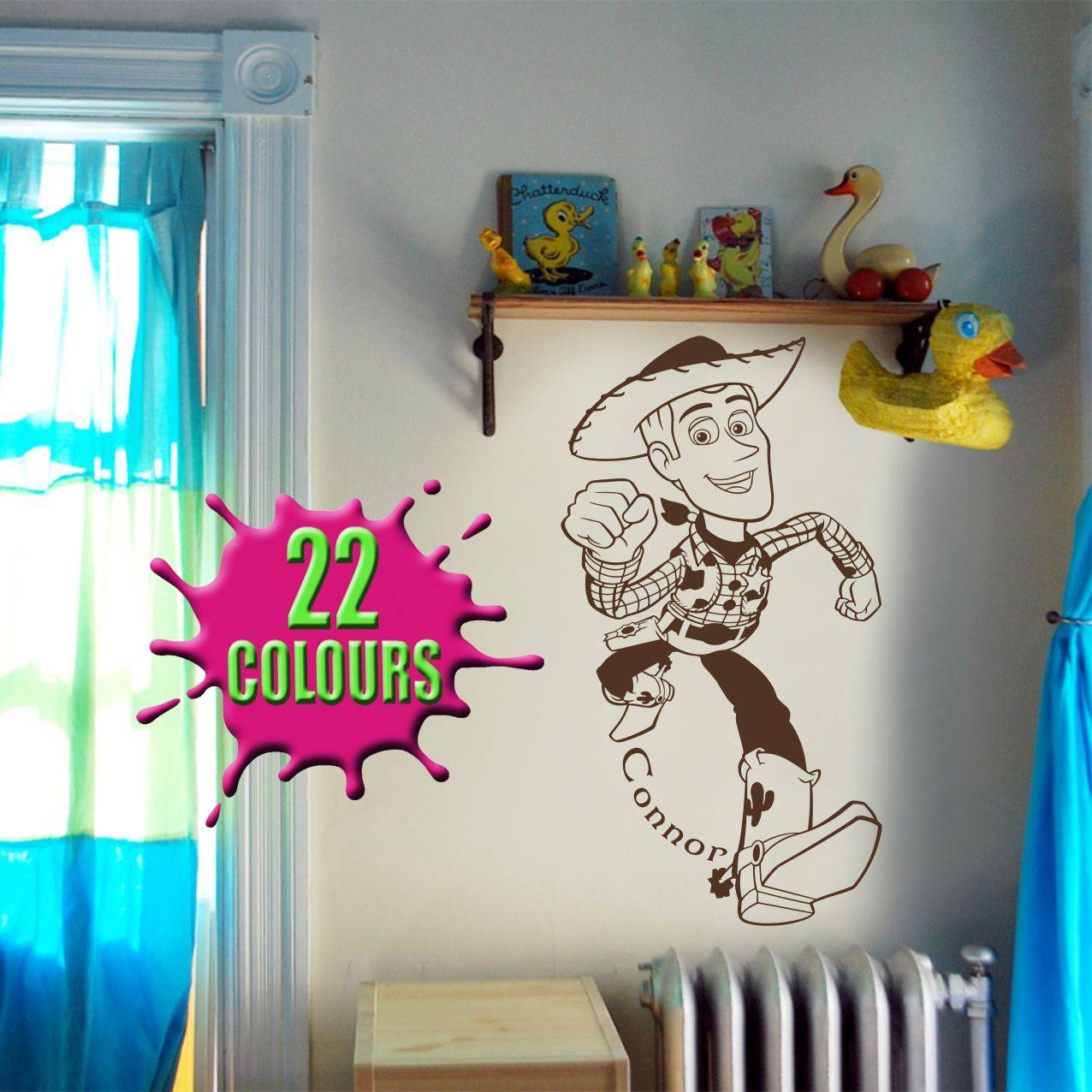 Fantastic Toy Story Woody Wall Art Decal Vinyl Sticker Wall With Regard To Most Current Toy Story Wall Art (View 9 of 30)