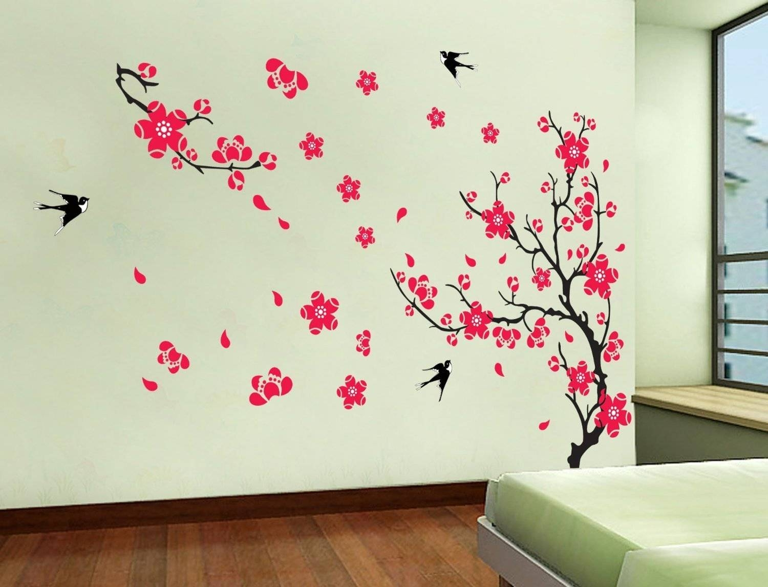Fascinating Cherry Blossom Metal Wall Decor Cherry Blossom Tree In Current Red Cherry Blossom Wall Art (View 10 of 30)