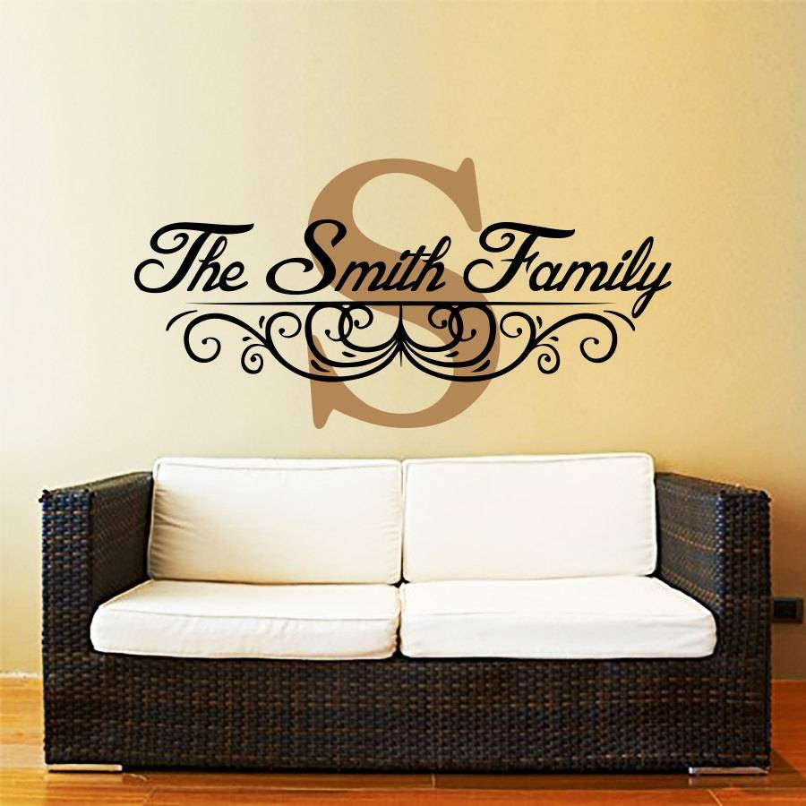 Fascinating Last Name Metal Wall Art Custom Family Last Name Pertaining To Newest Personalized Last Name Wall Art (View 8 of 20)
