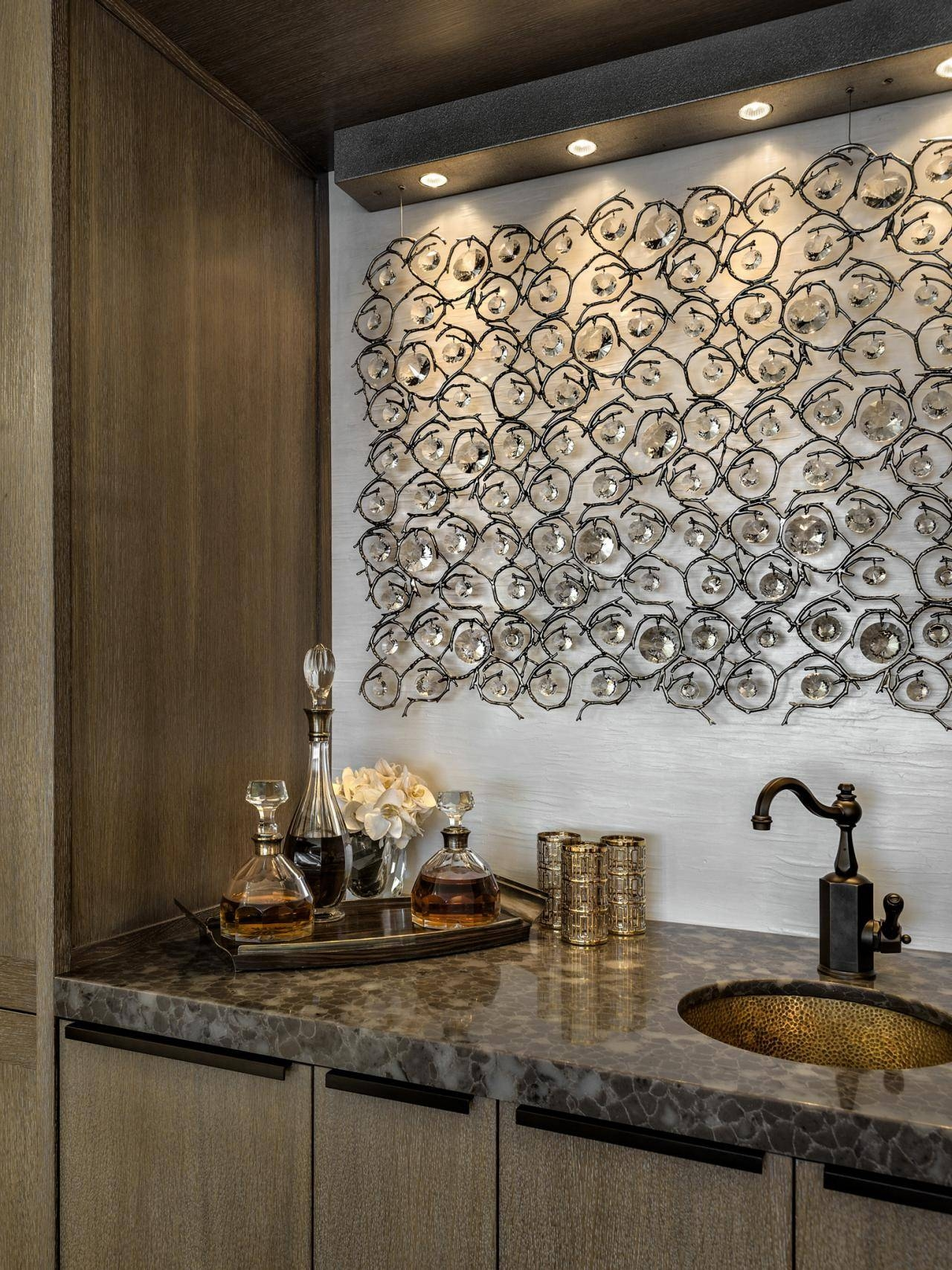 Fascinating Metal Sculpture Wall Art Fish Wenge Jivekerry Wall Regarding 2017 Wall Art For Bar Area (View 15 of 20)