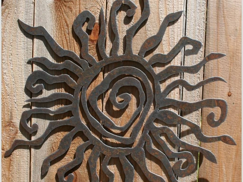Fascinating Sun Face Metal Outdoor Wall Art Large Copper Patina Throughout Most Current Copper Outdoor Wall Art (View 3 of 13)