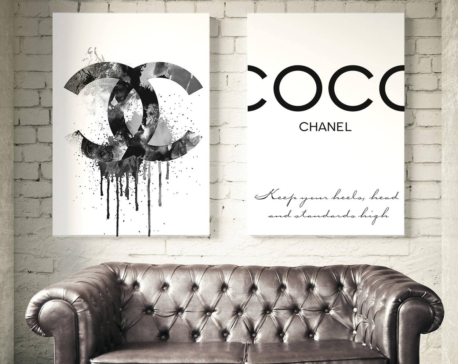 Fashion Set Of 2 Coco Chanel Prints (View 17 of 25)