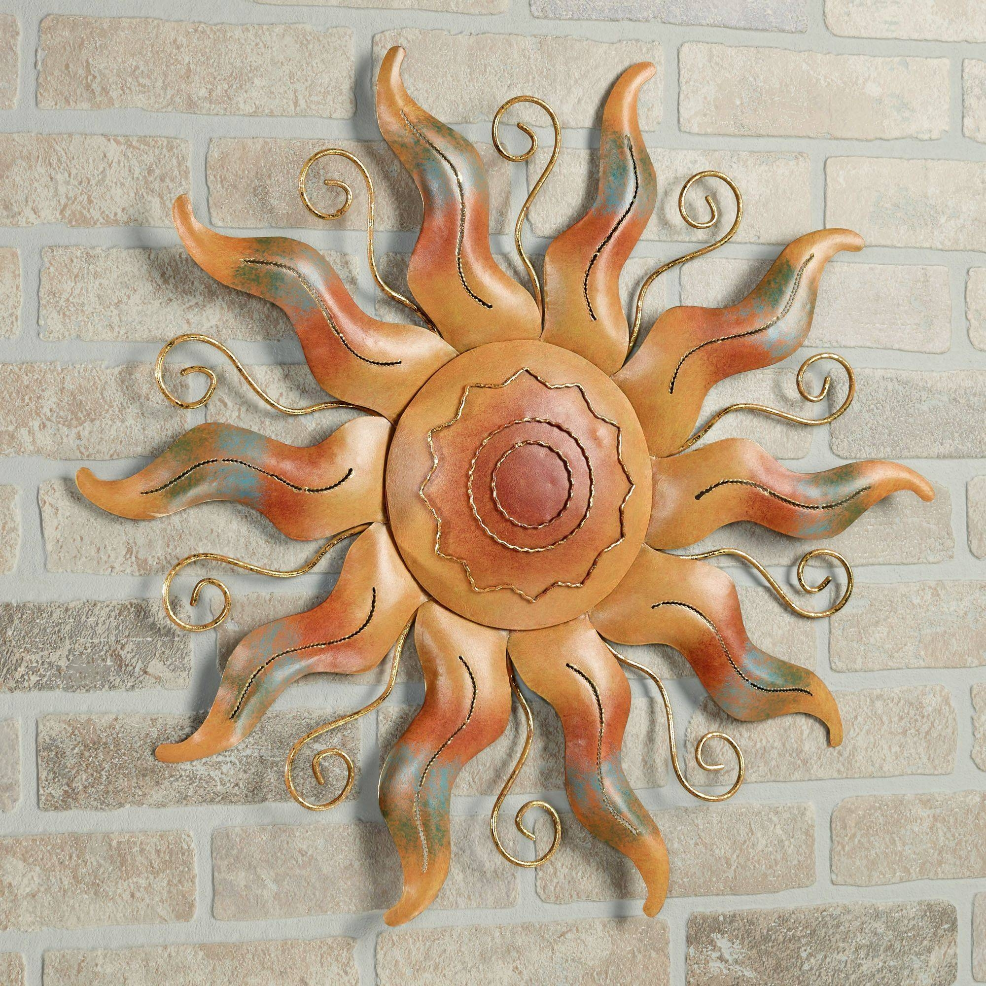 Fiesta Sun Indoor Outdoor Metal Wall Art Throughout Latest Southwest Metal Wall Art (View 14 of 25)