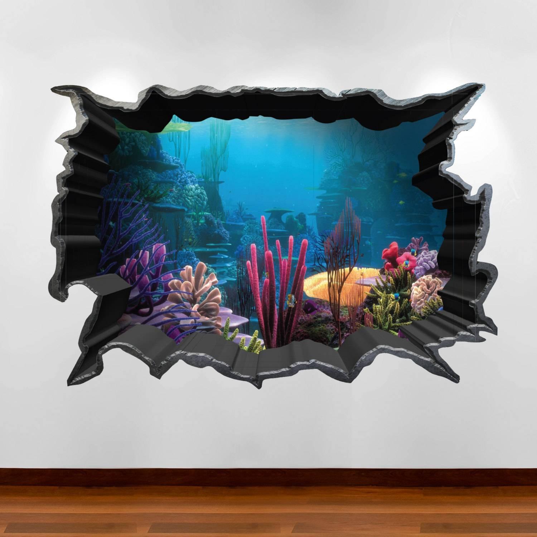 Finding Nemo Aquarium 3d Wall Art Sticker Decal Boy Girl Inside Most Up To Date Venezuela Wall Art 3d (View 6 of 20)