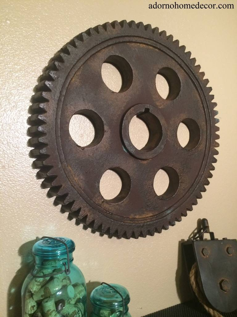 Fine Design Industrial Wall Decor Smartness Metal Gear Wall Art Pertaining To Latest Vintage Industrial Wall Art (View 4 of 20)