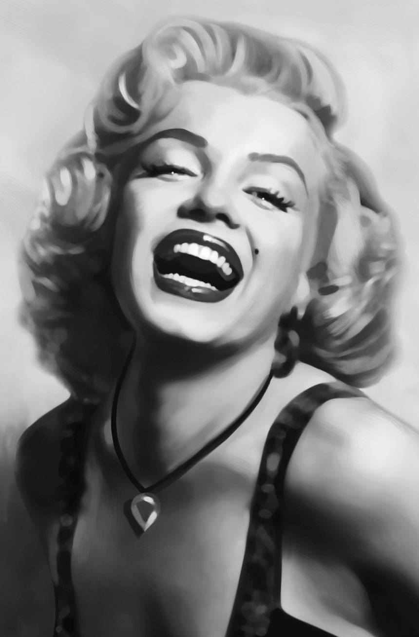 Fine Marilyn Monroe Black And White Poster 1 | Posters Tattyfraney Regarding Latest Marilyn Monroe Framed Wall Art (View 7 of 22)