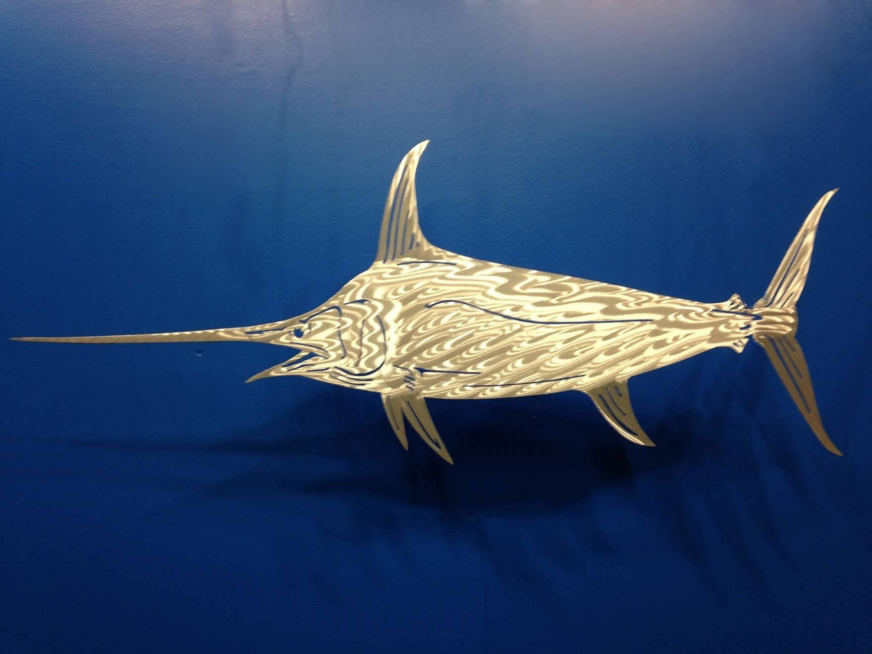 Fish Sculptures & Designs | Themetaledge Inside Most Popular Stainless Steel Fish Wall Art (View 8 of 17)