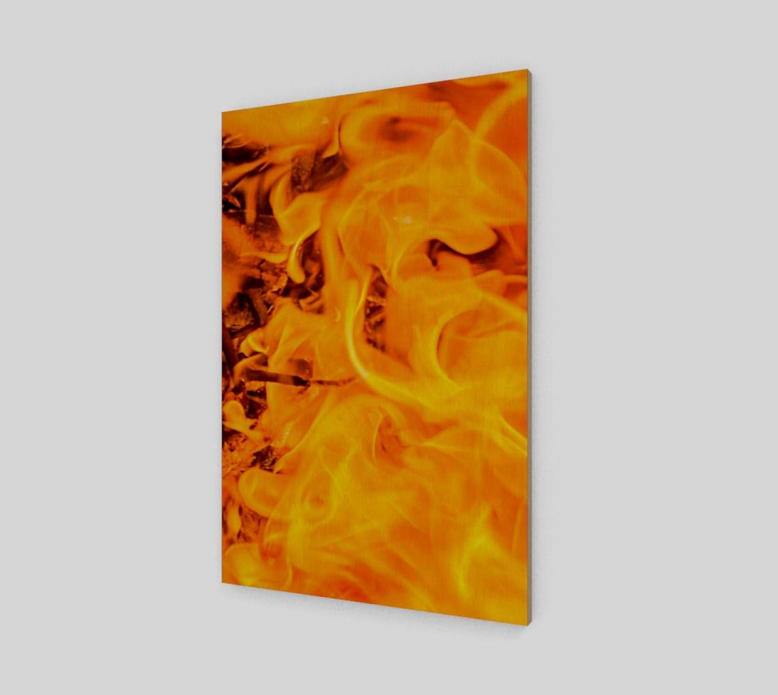 Five Elements Set – Fire Wall Art Poster 4, Wood Print Throughout Most Recent Elements Wall Art (View 7 of 20)