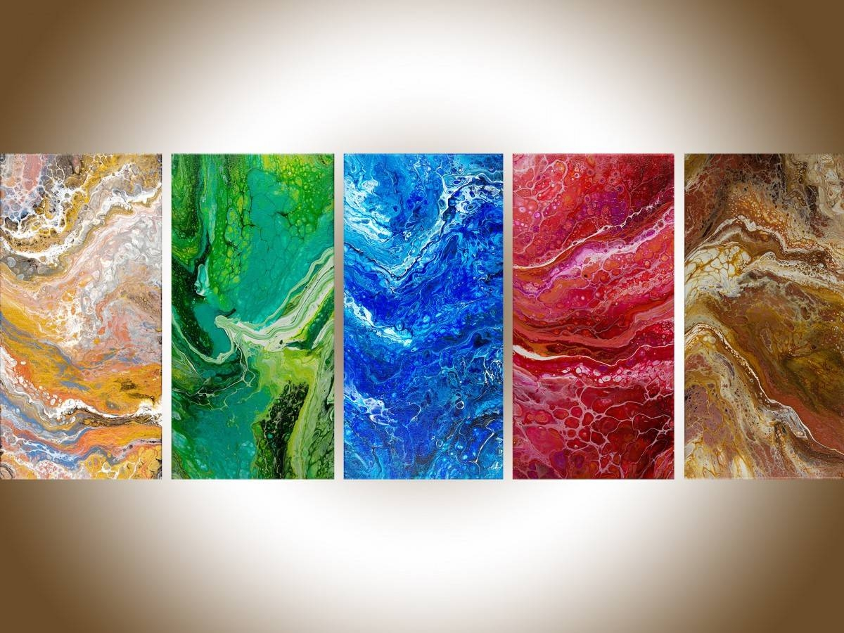 "Five Elementsqiqigallery 50"" X 20"" Feng Shui Art Abstract Throughout Best And Newest Elements Wall Art (View 4 of 20)"