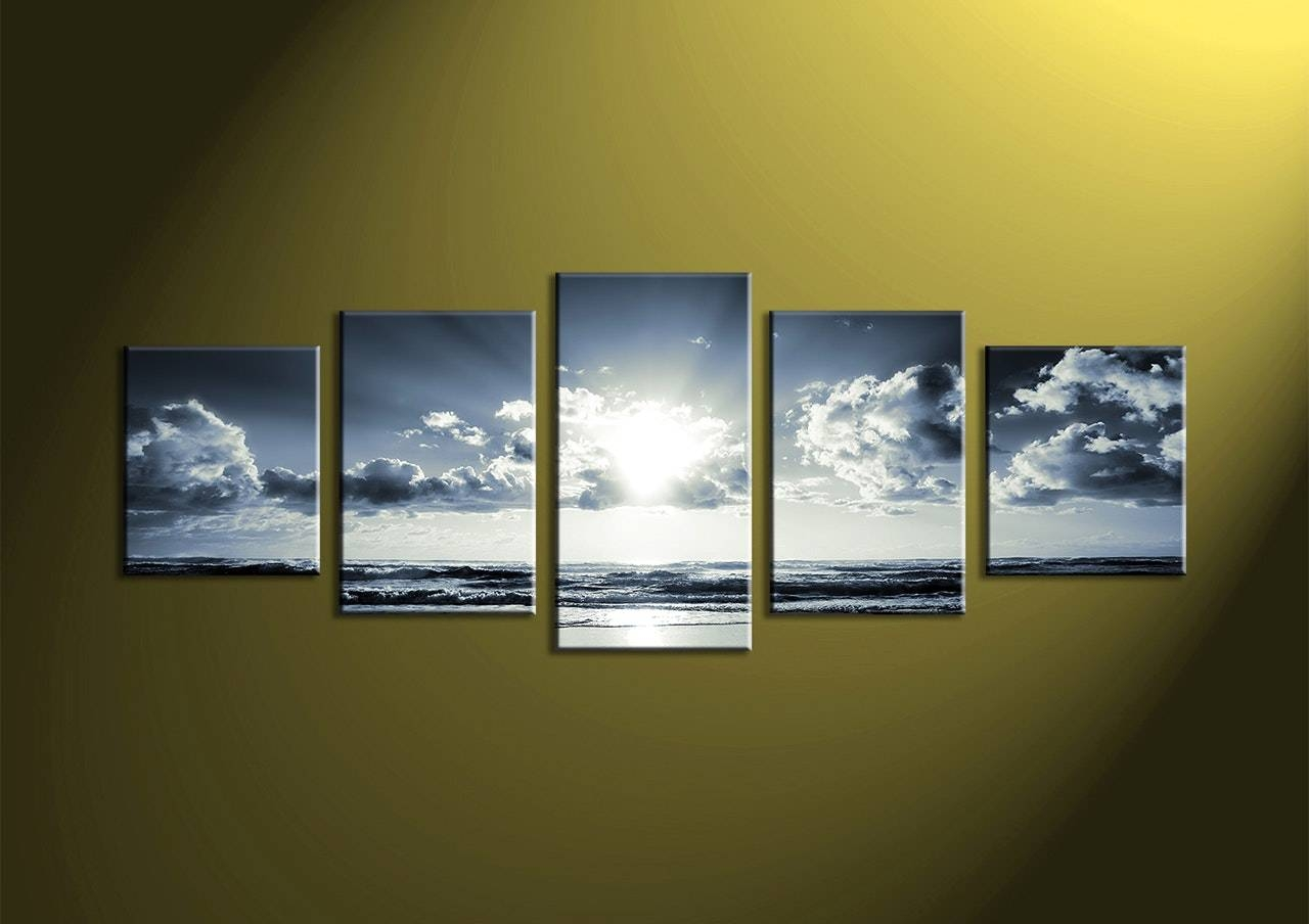 Five Piece Canvas Wall Art | Modern Home In Newest Multiple Piece Wall Art (View 12 of 20)