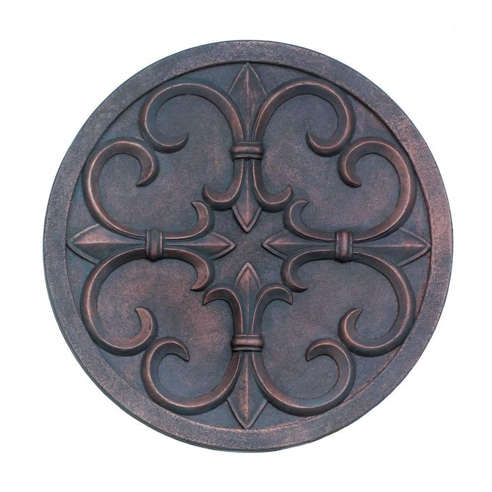 Fleur De Lis Garden Wall Plaque Wholesale At Koehler Home Decor With Regard To Most Up To Date Metal Fleur De Lis Wall Art (View 17 of 25)