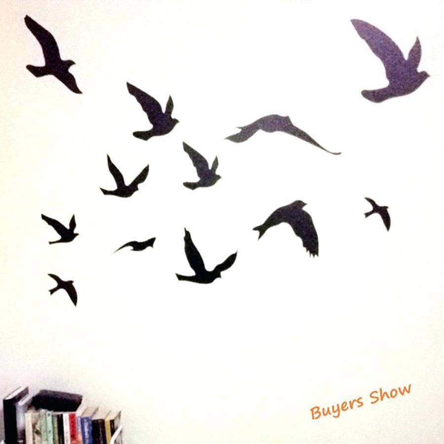 Flock Of Birds Wall Decal Flock Of Birds Wall Decal Bird Wall inside Current Flock Of Birds Wall Art