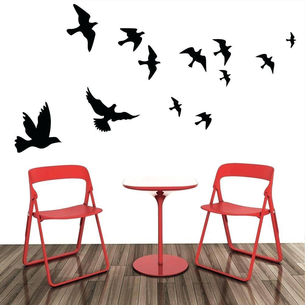 Flock Of Birds Wall Decal Flying Pigeon Bird Wall Art Stickers With Regard To Newest Flock Of Birds Wall Art (Gallery 5 of 25)