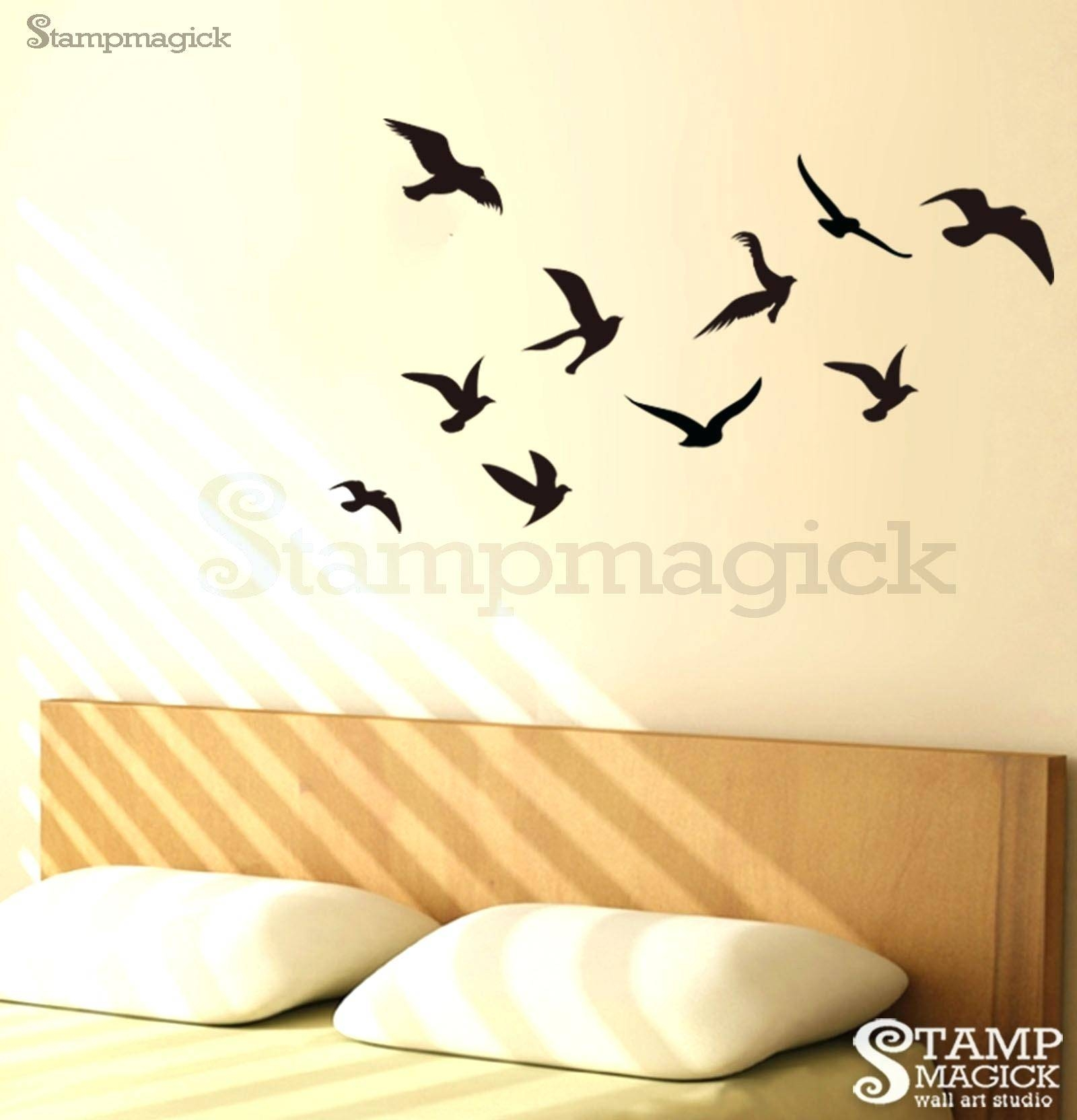 Flock Of Birds Wall Decal Nature Wall Art Decals Page 2 Nature With Newest Flock Of Birds Wall Art (Gallery 13 of 25)