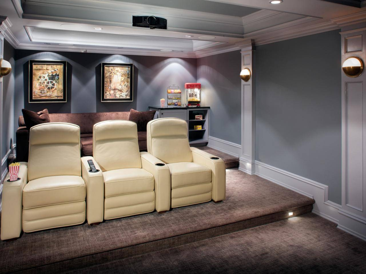 Flooring: Home Theatre With Reclining Chairs And Wall Art Also Throughout Newest Home Theater Wall Art (View 12 of 30)