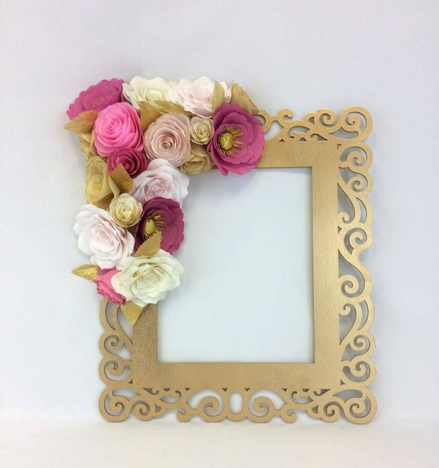 Floral Frame, Photo Prop, 3D Flower Wall Art, Paper Flower Wall For Most Up To Date 3D Flower Wall Art (View 10 of 20)