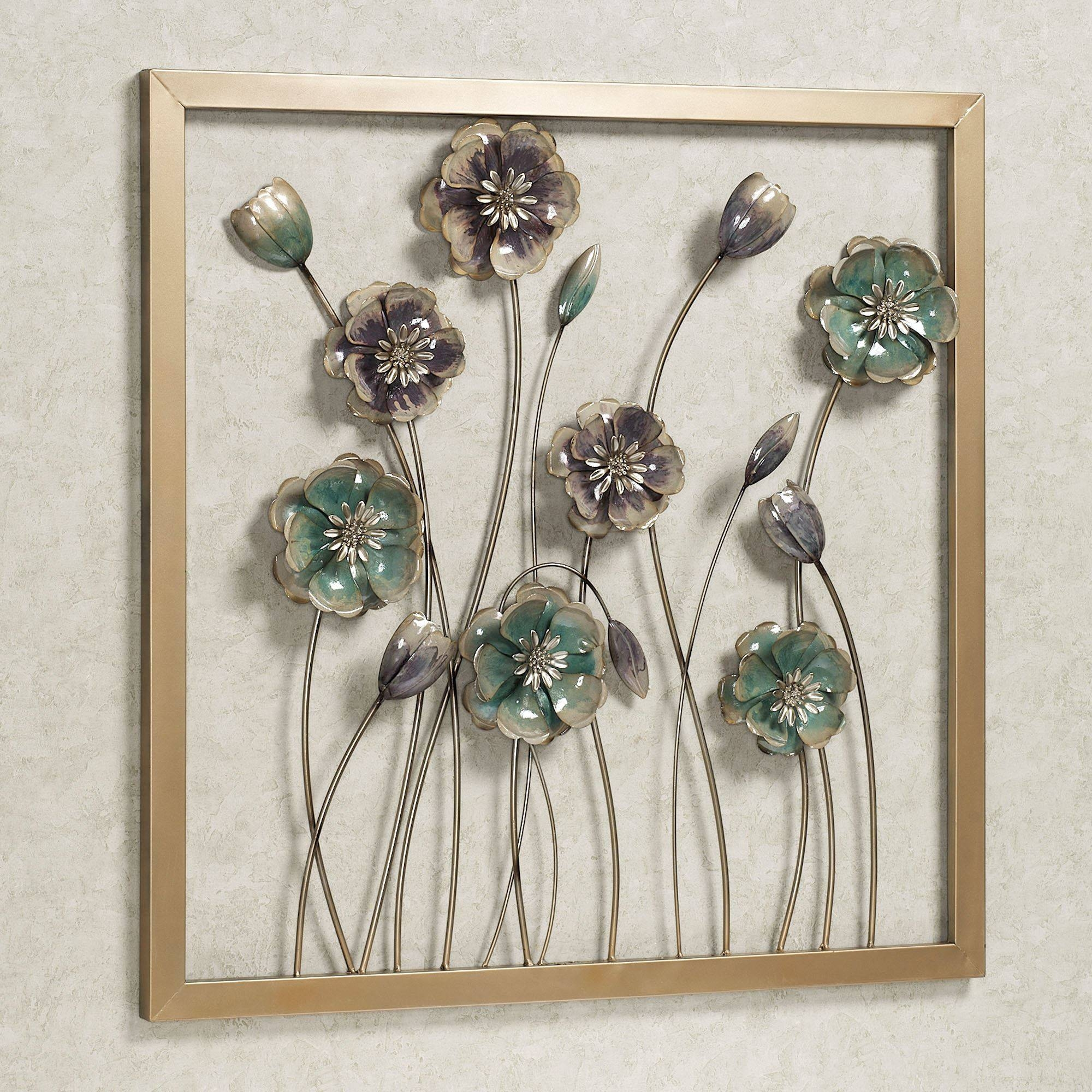 Floral Salute Square Metal Wall Art With Regard To Most Recent Gemstone Wall Art (View 12 of 31)