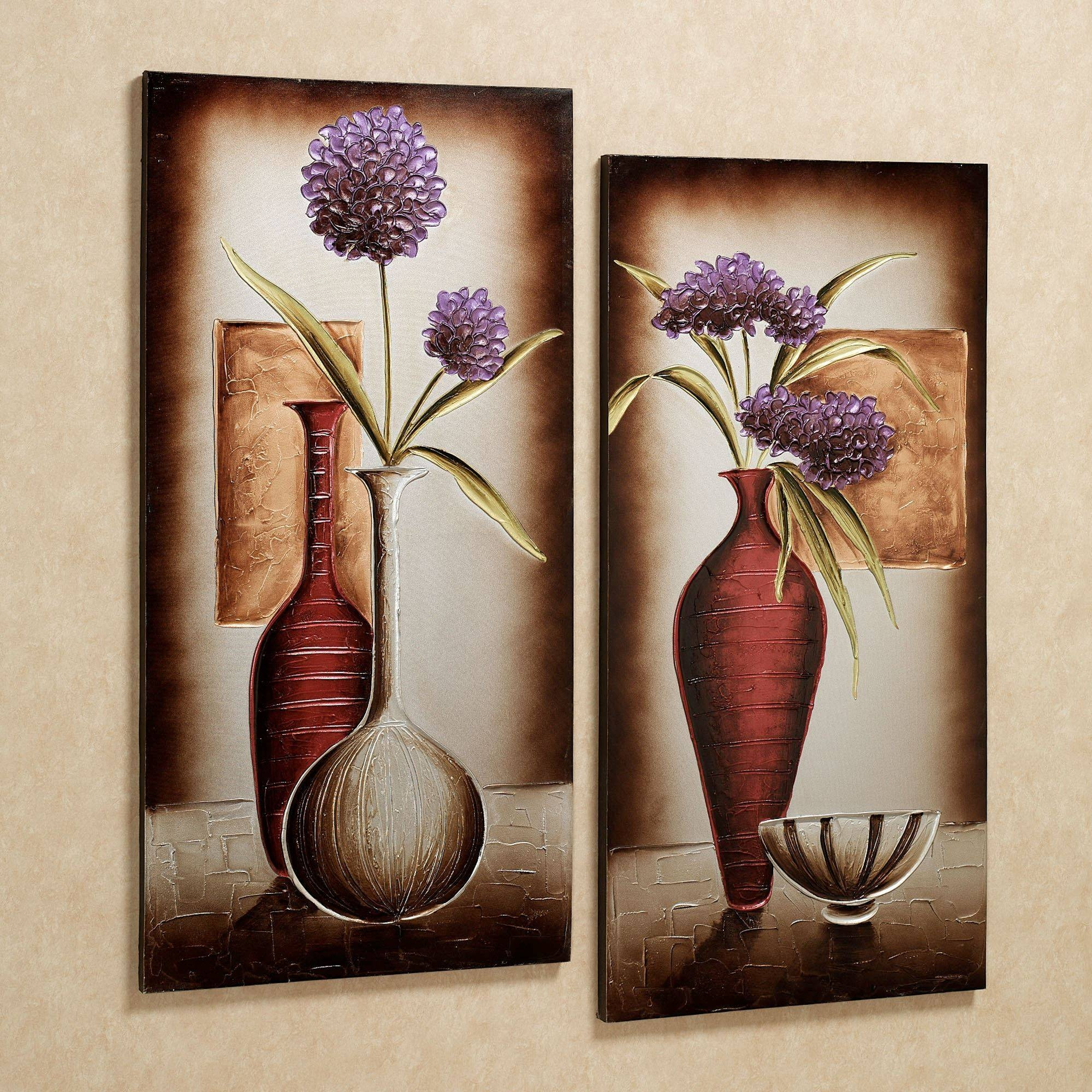 Floral Tranquility Canvas Wall Art Set Pertaining To Best And Newest Floral Wall Art Canvas (View 7 of 20)