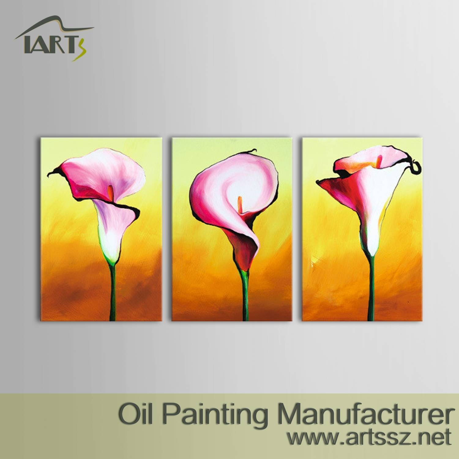 Flower Art Oil Painting,flower Art Oil Painting,chinese Wall Oil Throughout 2017 3 Piece Floral Canvas Wall Art (View 11 of 20)