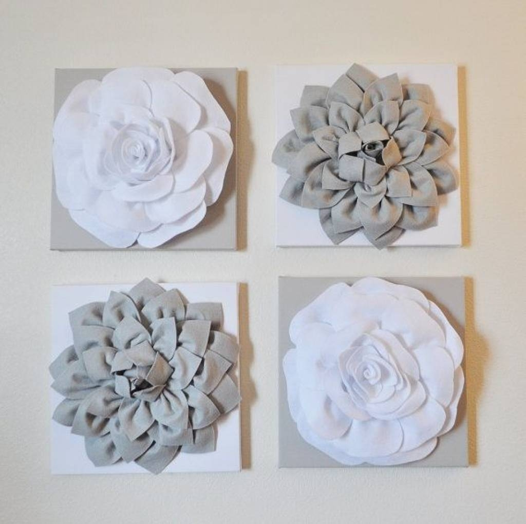 Flower Wall Art Decor 3d Flower Wall Decor Laurensthoughts Best Pertaining To Best And Newest Flowers 3d Wall Art (View 14 of 20)