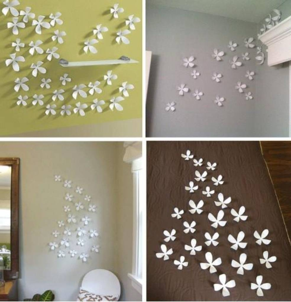 Flower Wall Art Decor Marvelous 3D Flower Wall Decor 5 Fabric Wall Regarding Best And Newest 3D Wall Art For Bedrooms (View 18 of 20)
