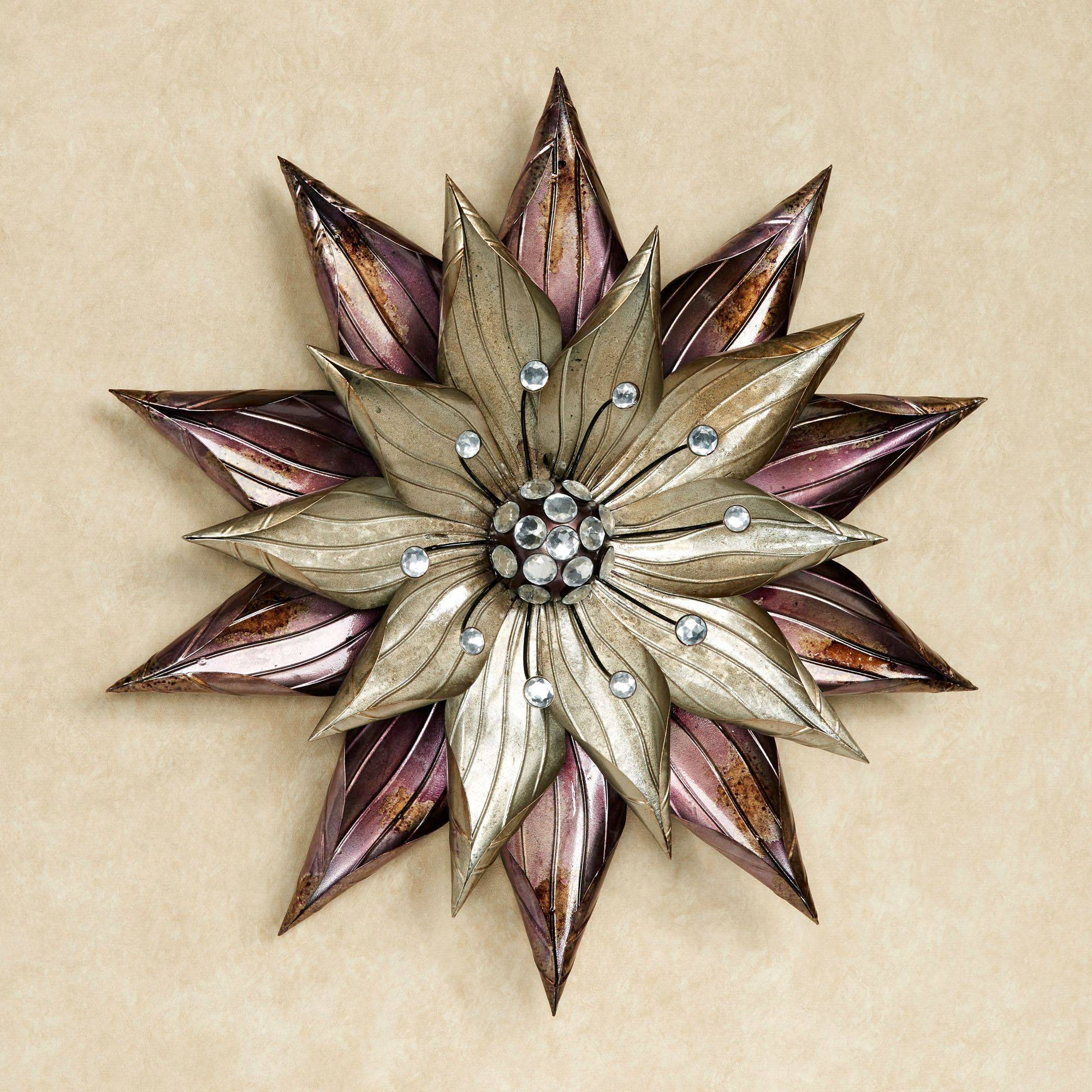 Flower Wall Art | Touch Of Class In Most Up To Date Purple Flower Metal Wall Art (View 11 of 25)