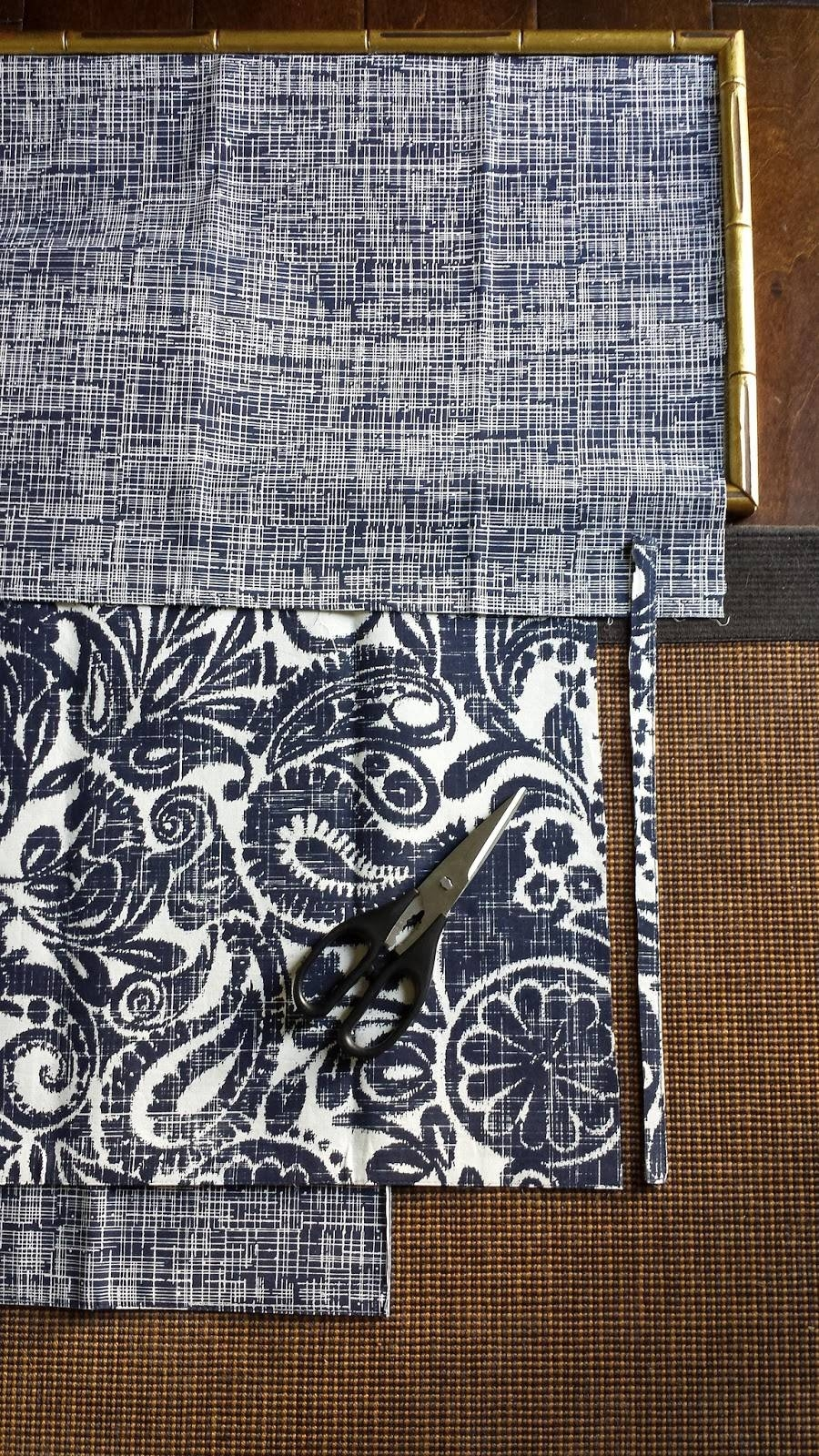 Focal Point Styling: Diy Indigo Wall Art With Framed Fabric Intended For Latest Fabric Wall Art (View 11 of 20)