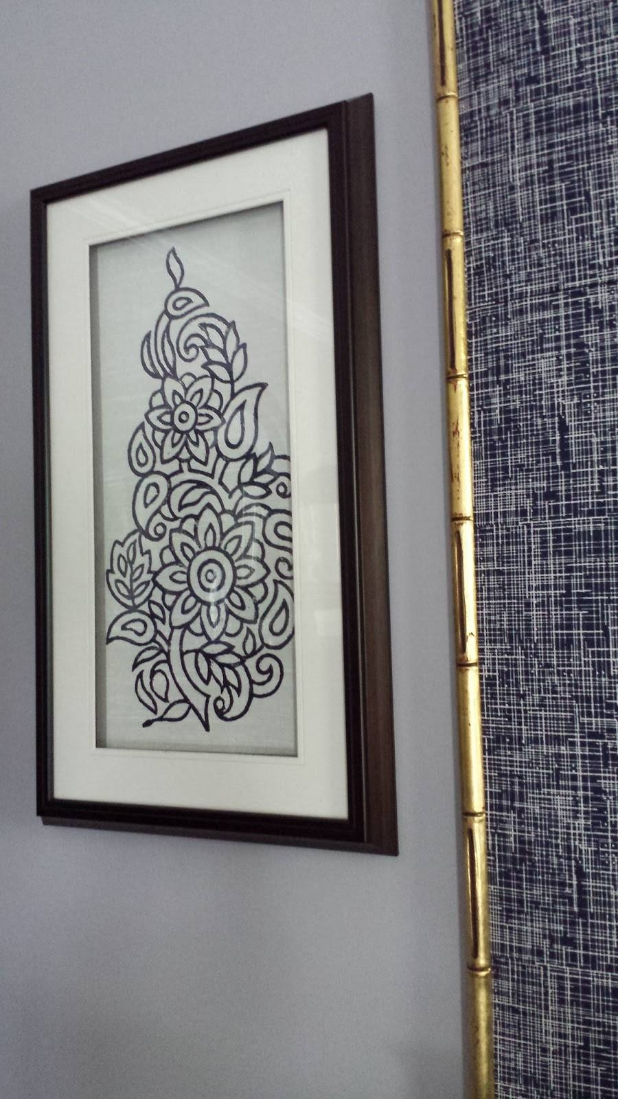Focal Point Styling: Diy Indigo Wall Art With Framed Fabric With 2018 Framed Fabric Wall Art (View 8 of 20)