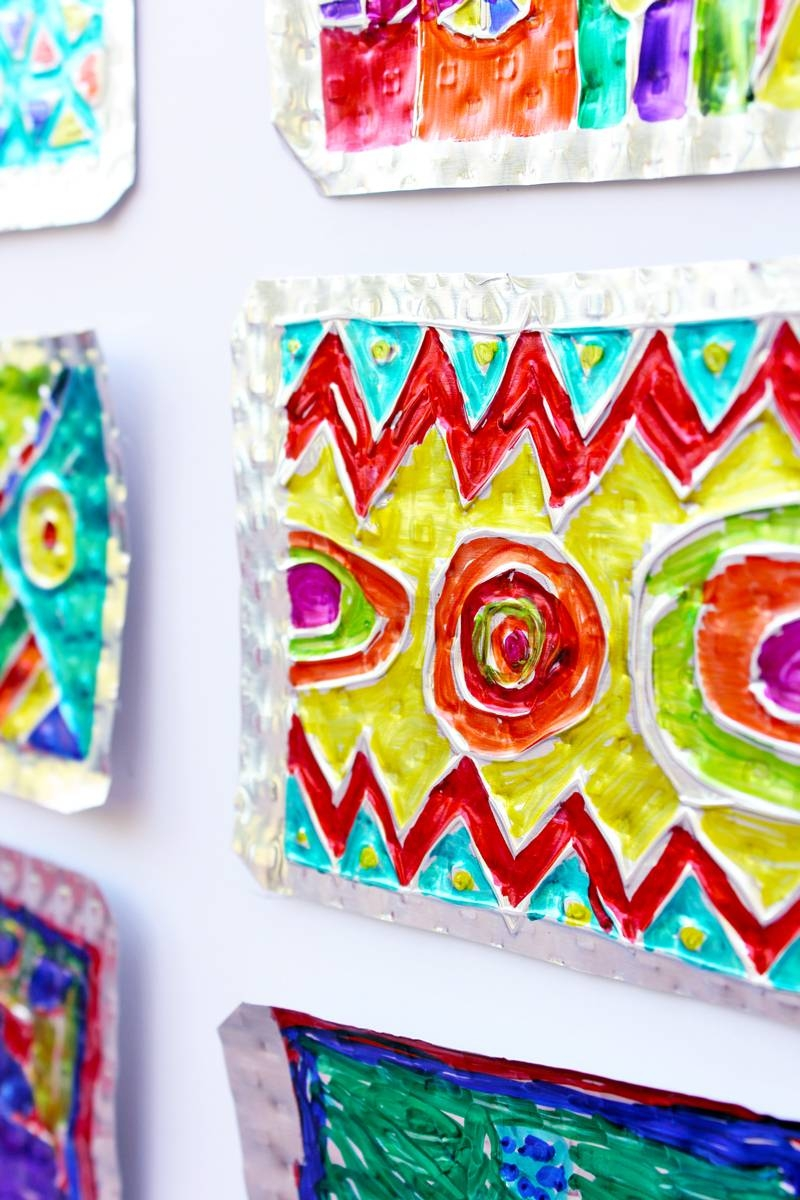 Folk Art Project For Kids: Hojalata (Tin) Art – Babble Dabble Do For Most Up To Date Mexican Metal Art (View 6 of 30)