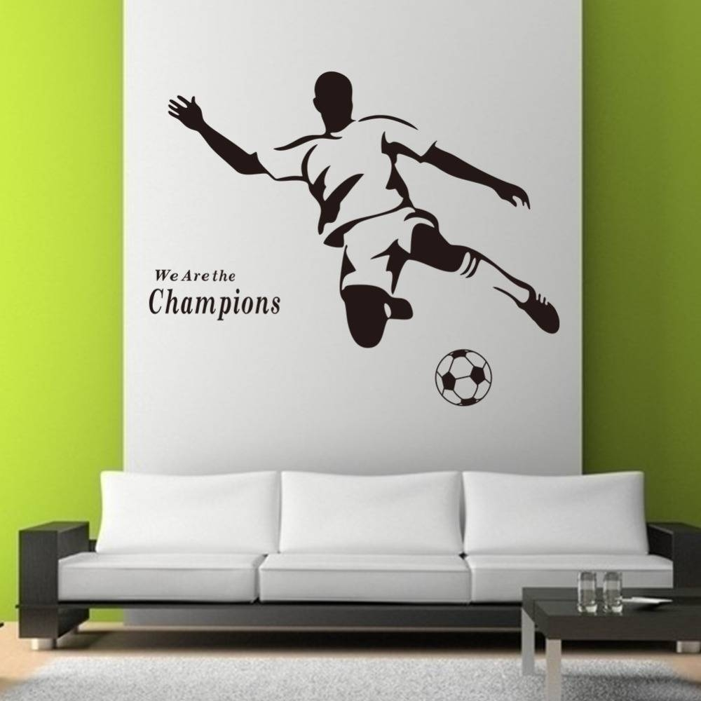 Football Boy Wallpaper 3d Wall Stickers 8257 For Kids Room Vinyl Regarding Most Up To Date Football 3d Wall Art (View 10 of 20)