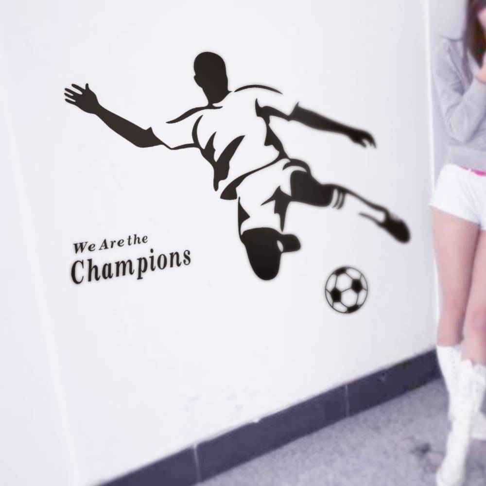 Football Boy Wallpaper 3d Wall Stickers 8257 For Kids Room Vinyl With Most Up To Date Football 3d Wall Art (View 8 of 20)