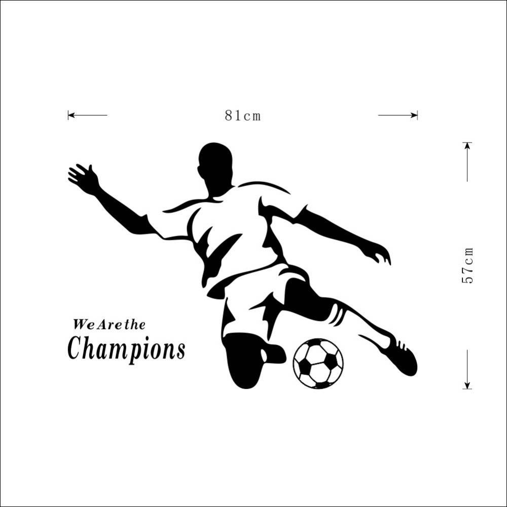 Football Boy Wallpaper 3d Wall Stickers For Kids Room Vinyl In Best And Newest Football 3d Wall Art (View 9 of 20)