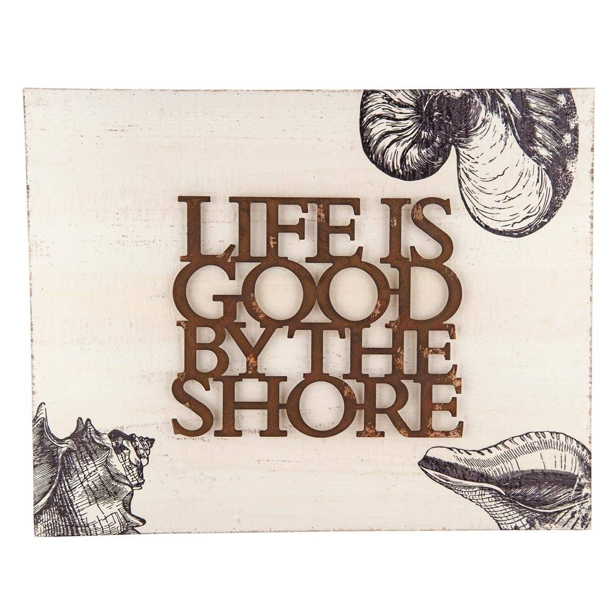 Foreside Home & Garden – Life Is Goodthe Shore Wall Art Throughout Latest Life Is Good Wall Art (View 8 of 30)