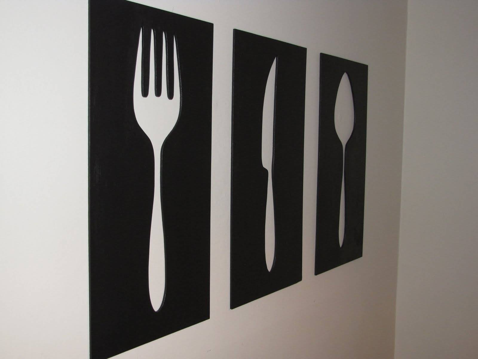 Fork And Spoon Wall Decor Art : Good Fork And Spoon Wall Decor For Newest Oversized Cutlery Wall Art (View 4 of 20)