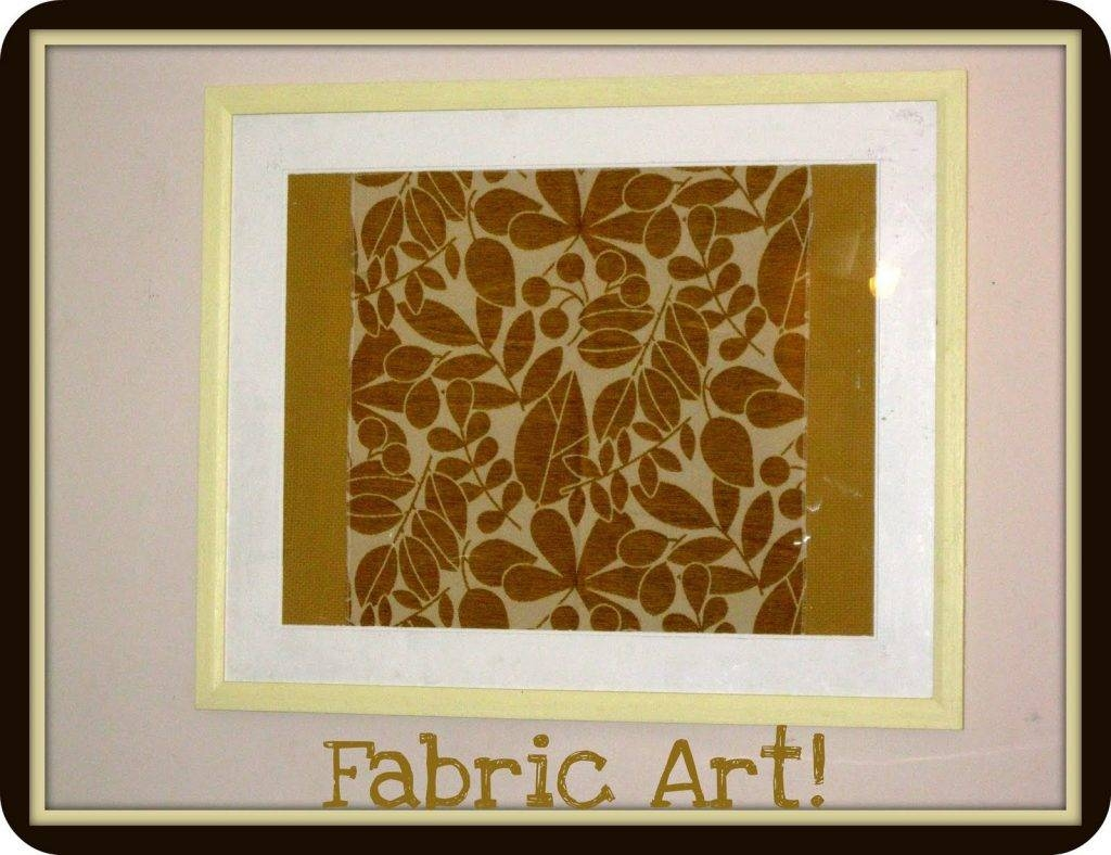 Frame Fabric Wall Art | Wallartideas With Best And Newest Framed Fabric Wall Art (View 14 of 20)
