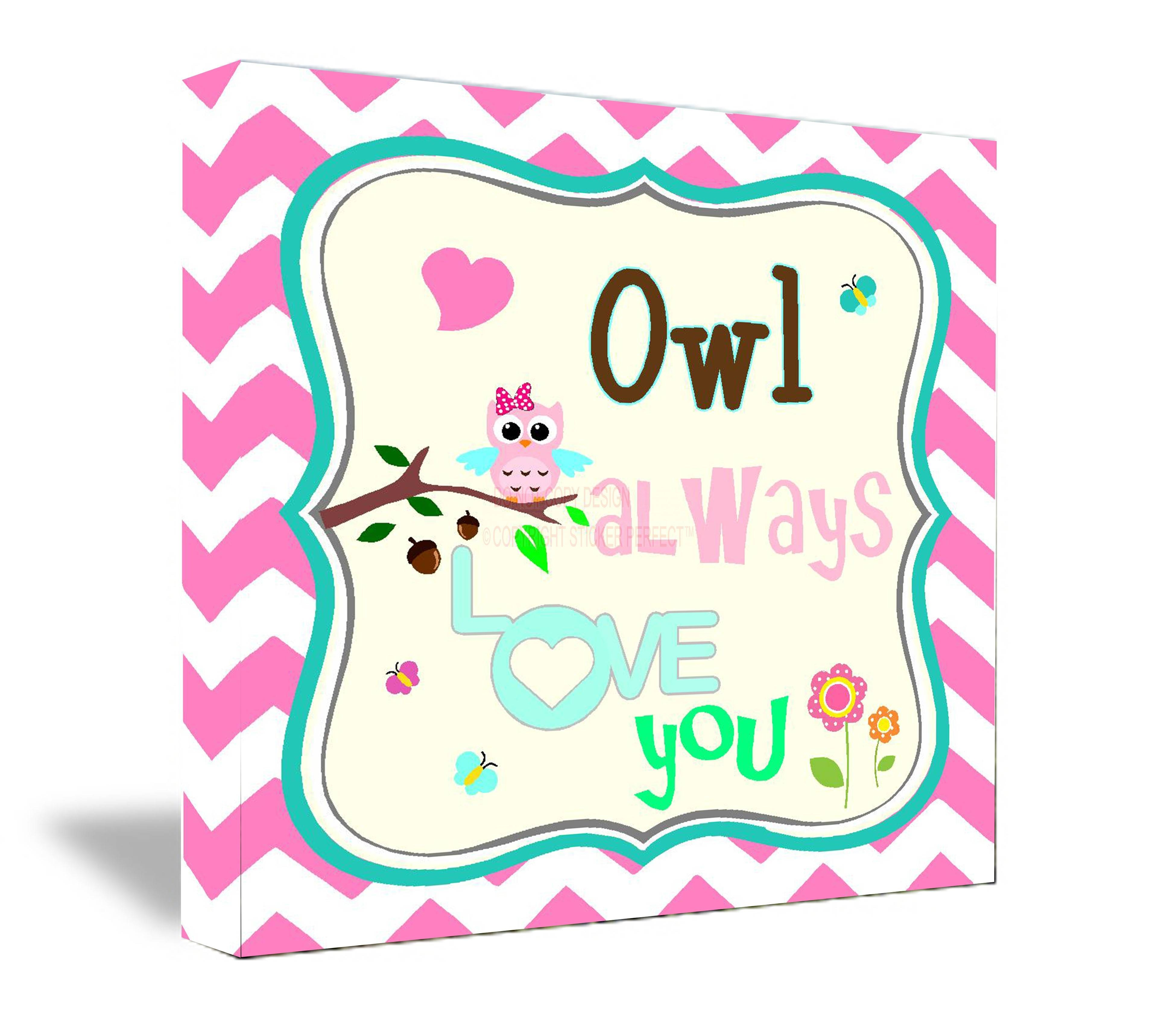 Framed Canvas Print Owl Always Love You Cute Wall Art Decorations With Current Owl Framed Wall Art (View 14 of 20)