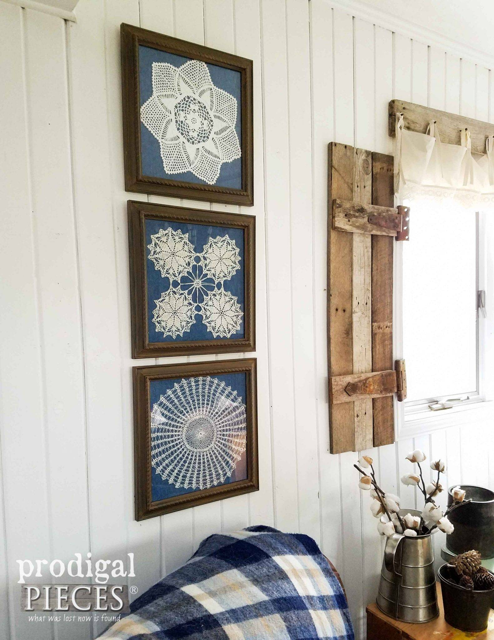 Framed Doily Wall Art – Prodigal Pieces For Most Popular Farmhouse Wall Art (View 8 of 25)