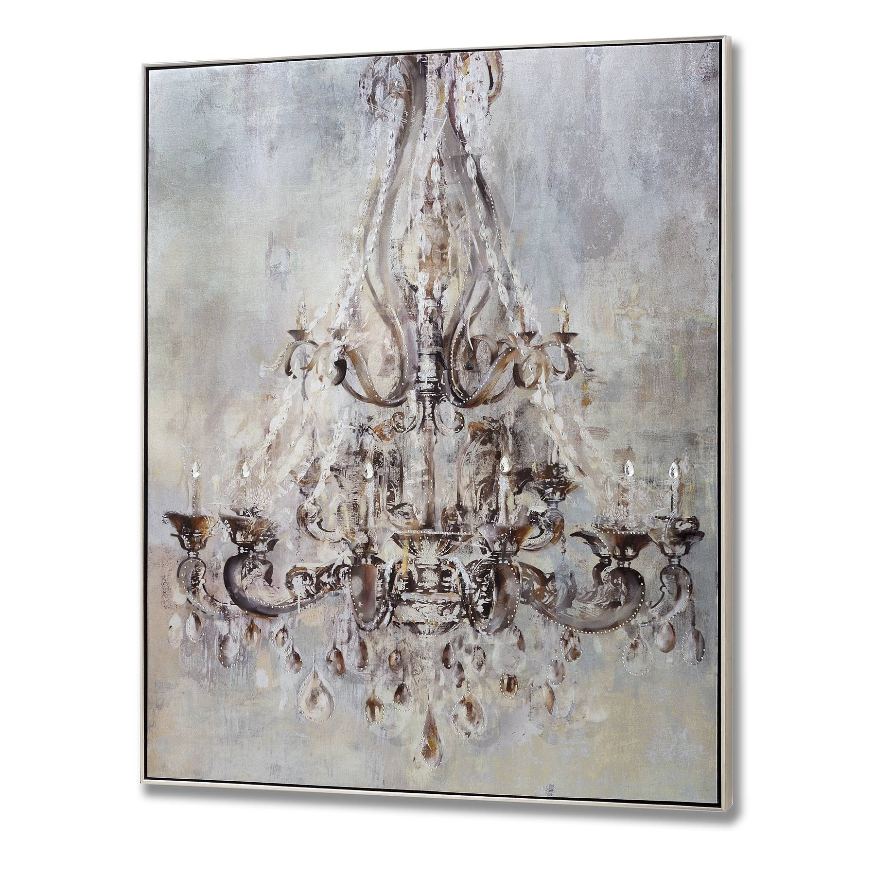 Framed Metalic Chandelier Wall Art With Metal Studs From Hill Pertaining To Most Recently Released Metal Framed Wall Art (View 7 of 20)