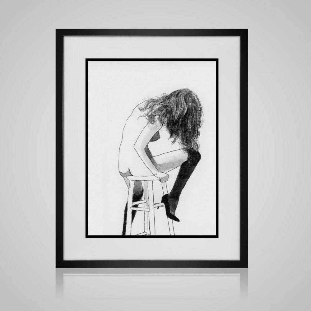 Framed Wall Art Risque Wall Art Framed And Matted – Available In Within 2017 Black And White Framed Wall Art (View 5 of 20)