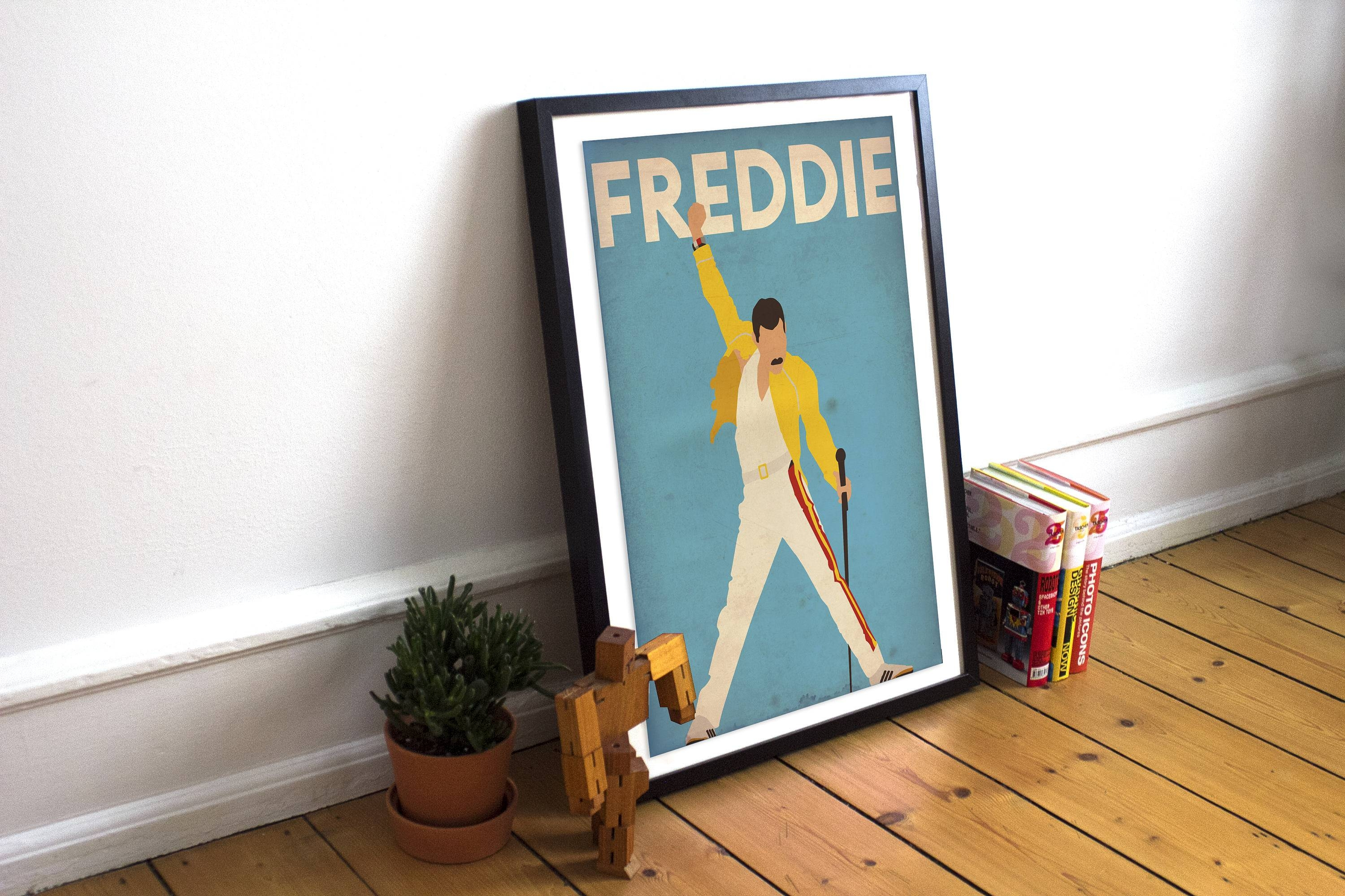 Freddie Mercury Freddie Mercury Poster Queen Poster Wall Throughout Current Freddie Mercury Wall Art (View 9 of 15)