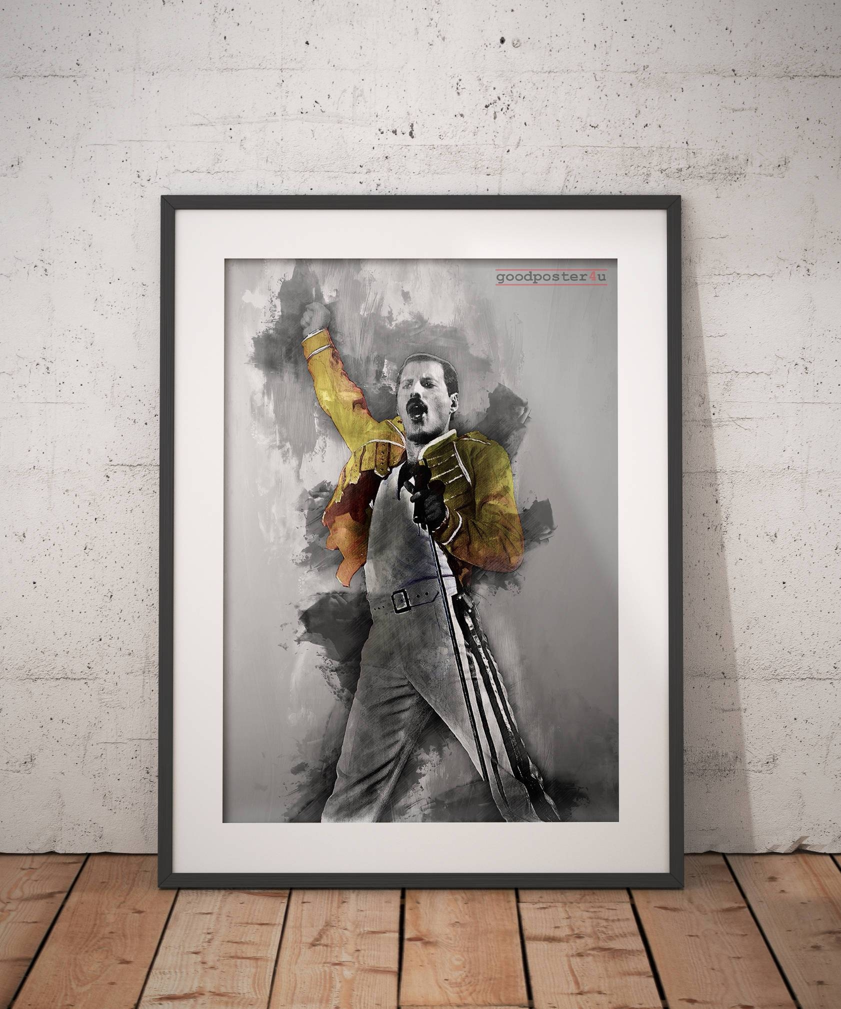 Freddie Mercury Print Freddie Mercury Poster Queen Wall Art Throughout Most Recently Released Freddie Mercury Wall Art (View 5 of 15)