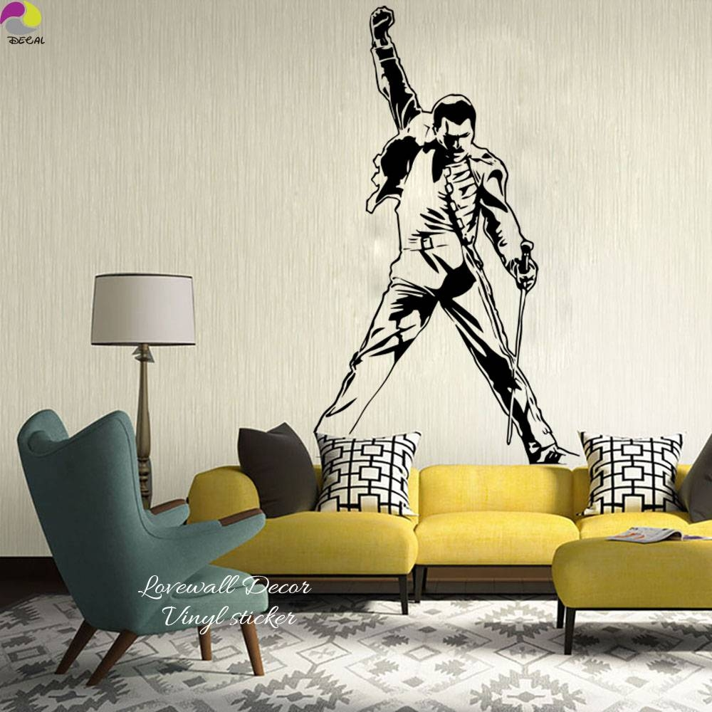 Freddie Mercury Wall Decals Metal Rock Music Characters Vinyl Inside Most Up To Date Freddie Mercury Wall Art (View 7 of 15)