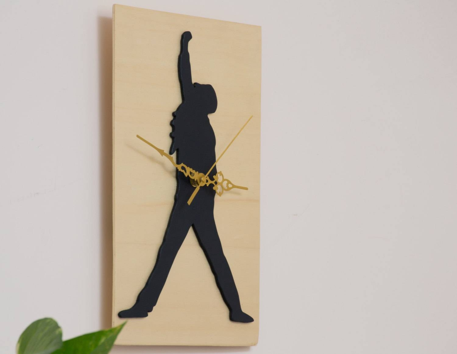 Freddie Mercury Wooden Clock Music Wall Art Music Lovers Within Most Up To Date Freddie Mercury Wall Art (View 3 of 15)