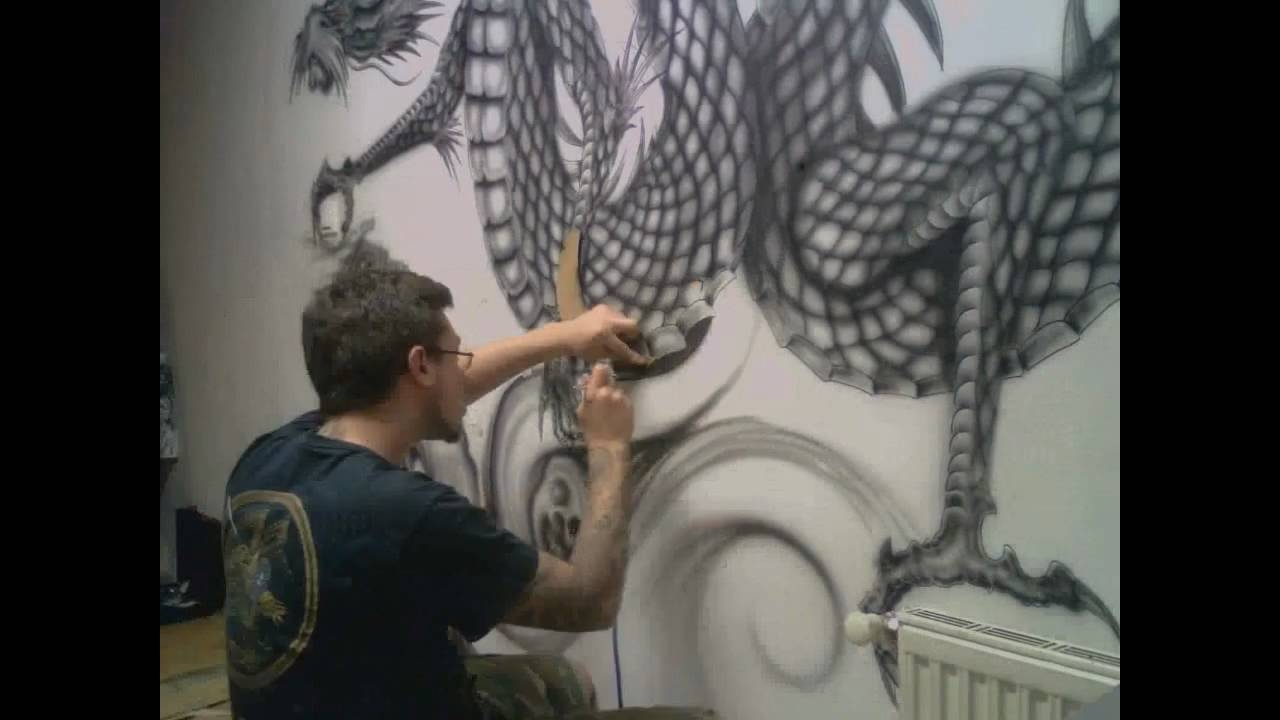 Freehand Airbrush – Youtube Pertaining To Recent Airbrush Wall Art (View 9 of 20)
