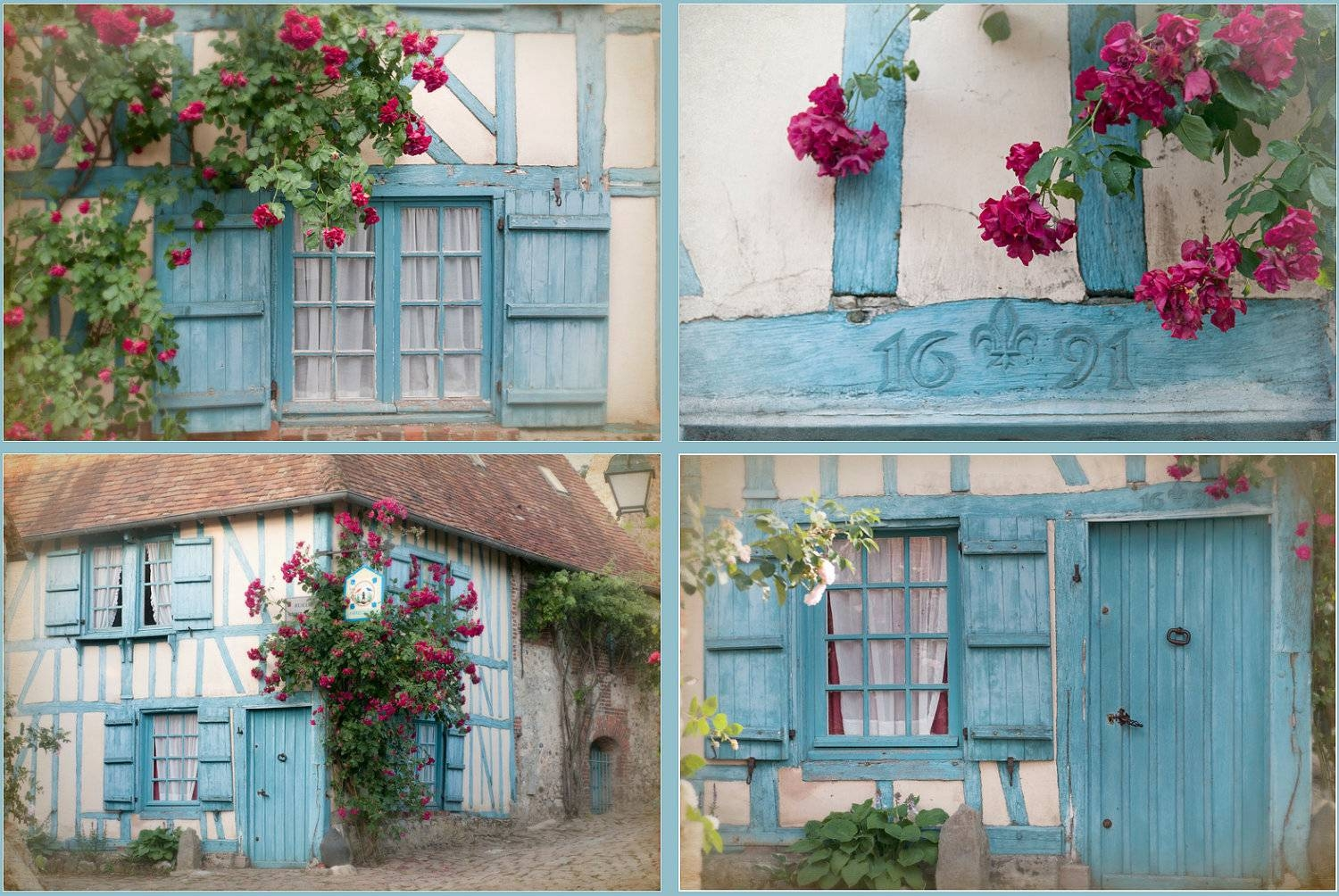 French Country Photos Four Fine Art Photographs Cottage In Most Popular Country French Wall Art (View 14 of 30)