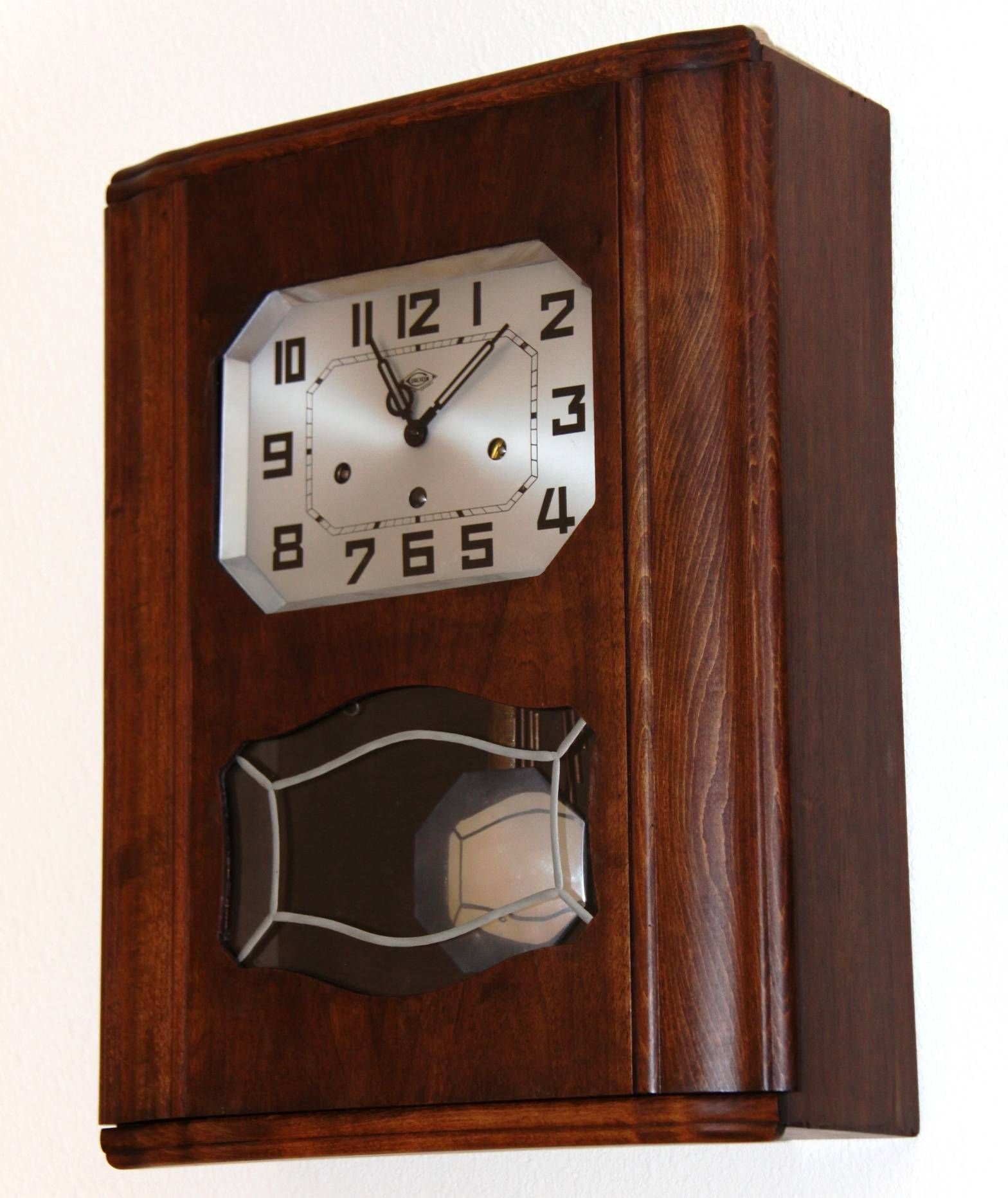 French Irod Clock. Two Chime, Art Deco Wall Clock – Due Time Clock In Most Up To Date Art Deco Wall Clocks (Gallery 12 of 25)